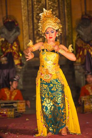 UBUD, BALI, INDONESIA - May, 31  Legong traditional Balinese dance in Ubud, Bali, Indonesia on May, 31, 2014