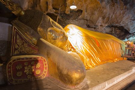 Reclining Buddha statue in Thailand. photo