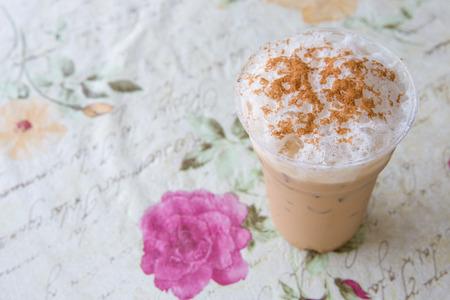 capuccino: Ice capuccino on coffee shop