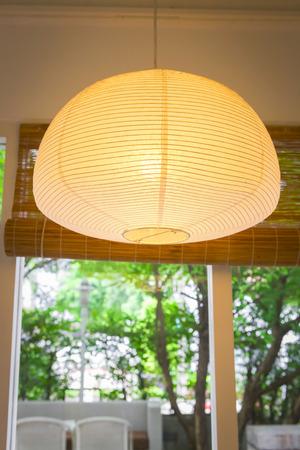 Japanese  lantern at coffee  shop photo