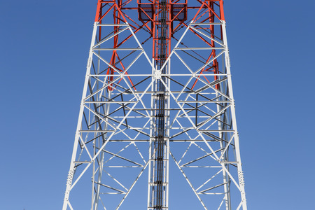 mast cell: Close up cellular pillar with blue sky
