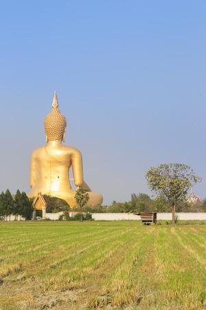 angthong: Big Buddha  statue at Wat Muang in Angthong, Thailand Stock Photo