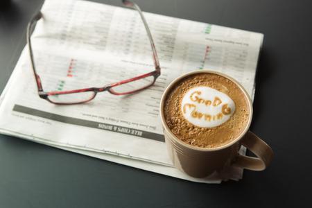 oude krant: Goedemorgen kopje koffie met de krant