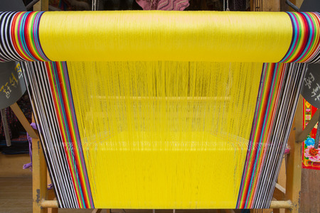 handloom: Weave tradition  for cloth Stock Photo