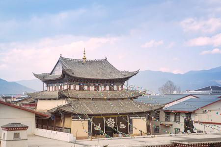 Chapel of Tibete monastery in Shangri-la China photo