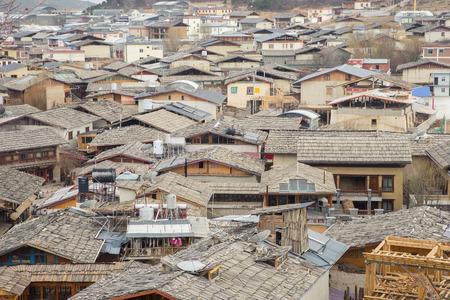 lamaism: Shangri-la old town in China Stock Photo