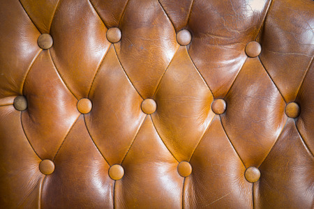 couch: Brown couch leather