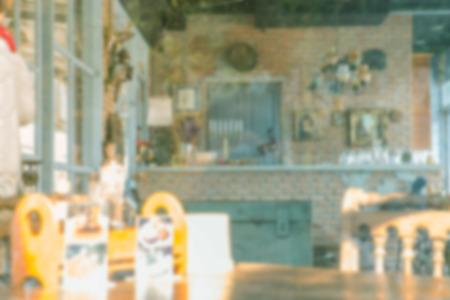 restuarant: Blur restuarant vintage style Stock Photo