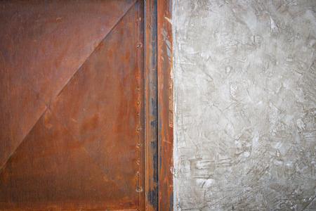 stell: Half cemen , half stell background