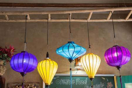 colorful lantern: Colorful lantern of lighting Stock Photo