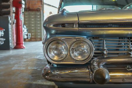 head light: Head light of Vintage US classic car