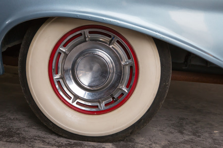 Vintage wheel of classic car