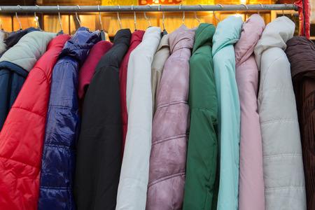 fashion jacket on hangers