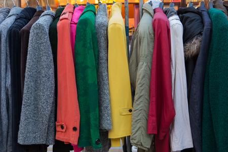 hangers: fashion jacket on hangers