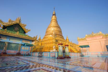 Stupa of sky palace in Mandalay Myanmar Stock Photo