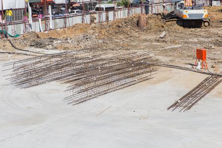 enforced: Construction site with enforced concrete steel frames
