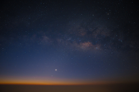 milky way: Milky way over the zodiacal light