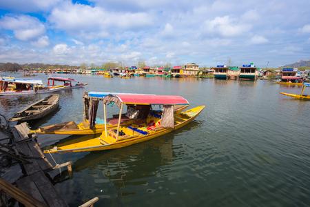 kashmir: Shikara boat in Dal lake , Kashmir India Editorial