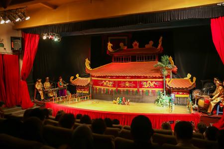 HOCHIMINH - NOVEMBER 04, 2016: Vietnamese water puppet show at Golden Dragon Water Puppet Theater Novembre 04, 2016. in Ho Chi Minh, Vietnam Editoriali