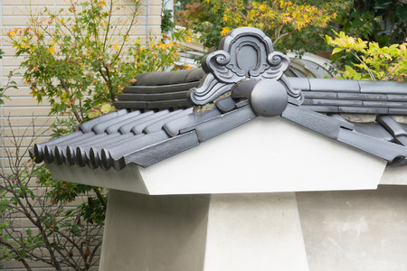 Detail of Japanese tradition roof