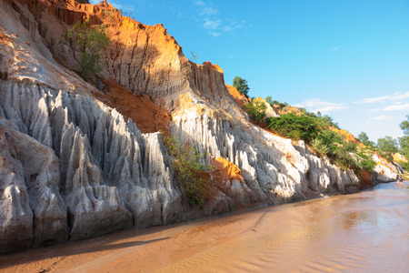 oxides: Beautiful creek fairy with red and white sandstone in Mui Ne, Vietnam