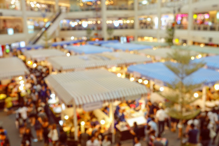 departmentstore: Blurred of Shopping Mall and City Lifestyle Stock Photo