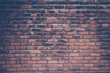 Brick wall texture background , vintage color tone