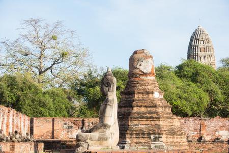 Buddha sculptures at Wat Phra Mahthat, Ayutthaya, Thailand Stock Photo