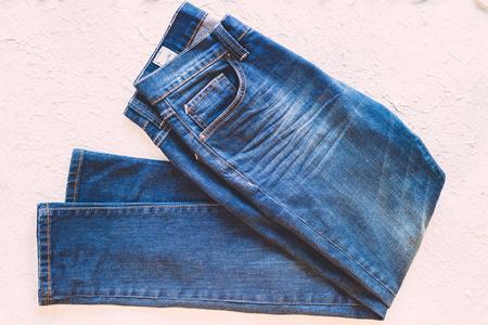 Fashion jean on white background.