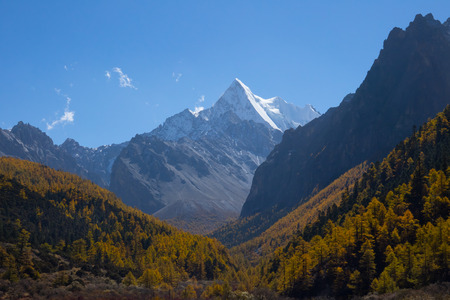 Beautiful Scenic of Yading Natural Reserve, Daocheng , Sichuan, China