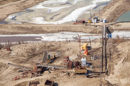 mining: minería de oro Foto de archivo