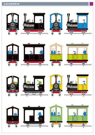 colorfulness: Steam locomotive for children Illustration