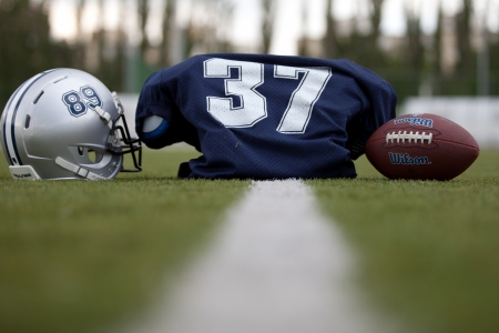 accesories: American football accesories Stock Photo
