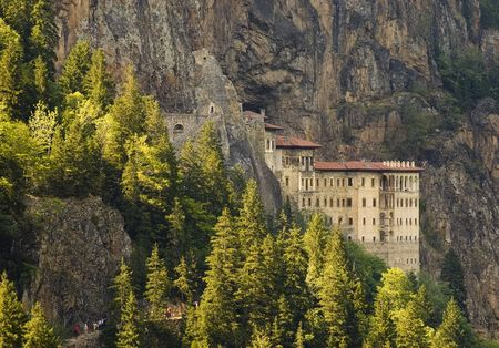 monasteries: The Sumela manastery in north east Turkey Stock Photo