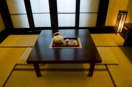 japones bambu: Interior del sal�n de t� japon�s