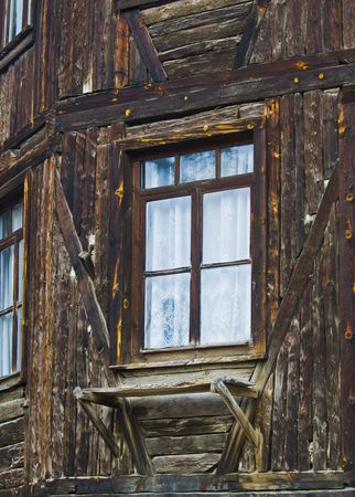 ukranian: close up on a shack in a ukranian village Stock Photo