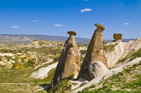 La formation speciel pierre de Cappadoce dinde Banque d'images - 3126193