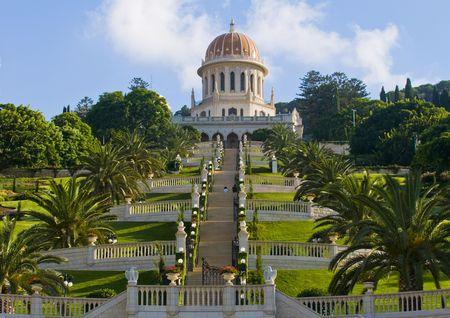 haifa: The Bahai gardens in Haifa north Israel