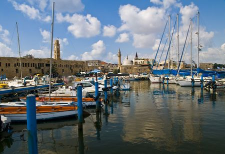 acre: The port of Acre in north Israel Stock Photo