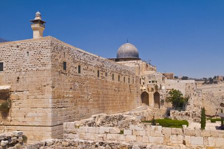 The old city of Jerusalem in Israel photo