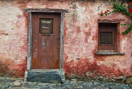 Ditails dans le quartier historique de la ville de « Colonia del Sacramento » en Uruguay un site « Patrimoine mondial » Banque d'images - 5514585