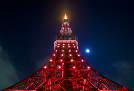 A comunications and observation tower located in Tokyo Japan
