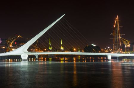 puerto:  puerto madero the new modern neighborhood  in Buenos Aires Argentina at night