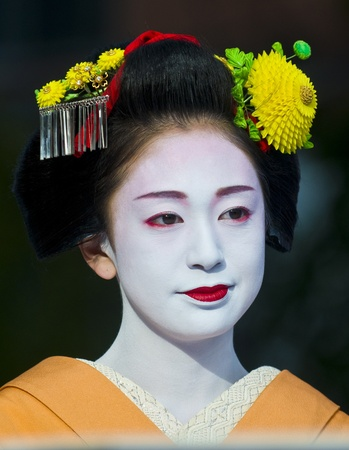 Kyoto, OCT  22: a participant on The Jidai Matsuri ( Festival of the Ages) held on October 22 2009  in Kyoto, Japan . It is one of Kyoto's renowned three great festivals Stock Photo - 8717609