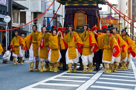 Kyoto, OCT  22: a participants on The Jidai Matsuri ( Festival of the Ages) held on October 22 2009  in Kyoto, Japan . It is one of Kyoto's renowned three great festivals Stock Photo - 8717678