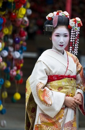 Kyoto, OCT  22: a participant on The Jidai Matsuri ( Festival of the Ages) held on October 22 2009  in Kyoto, Japan . It is one of Kyotos renowned three great festiva Editorial