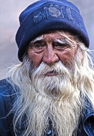 MONTEVIDEO , URUGUAY  - FEB 01 2009 : Portrait of an old Uruguayan man  Stock Photo - 8717683