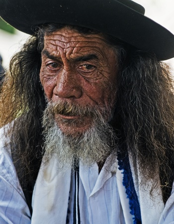 TACUAREMBO , URUGUAY - MAR 07 2009 : a  participant in the annual festival of  Patria Gaucha
