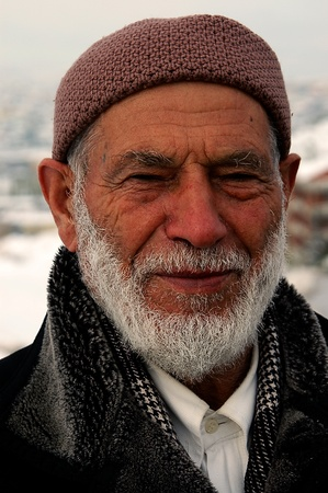 turkish man: ANKARA , TURKEY - DEC 01 2006 : portrait of old turkish man