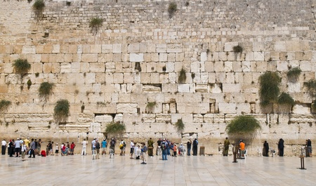 kotel: JERUSALEM , ISRAEL - Sep 06 2008 : The western wall Important Jewish religious site located in the Old City of Jerusalem